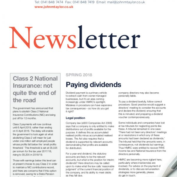 Image of Newsletter Front Page