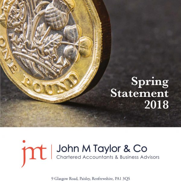Image of Spring Statement First Page